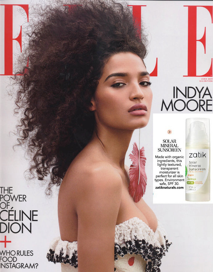 Zatik Sunscreen in ELLE USA