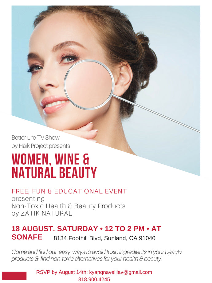 Women, Wine & Natural Beauty