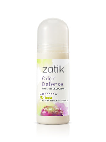 Roll on deodorant with Lavender and Moringa. Aluminum free