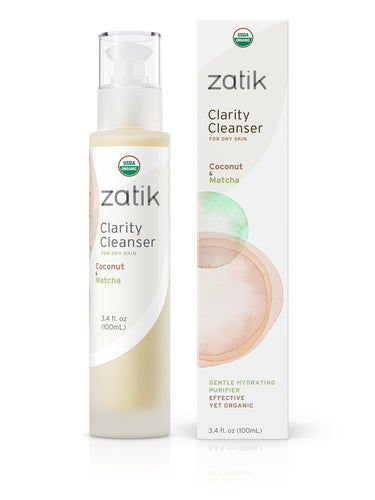 Clarity Cleanser bottle next to box