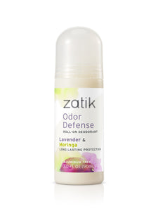 Odor Defense Roll on Deodorant Lavender and Moringa - Zatik Naturals