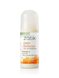 Odor Defense Roll on Deodorant Orange Vetiver - Zatik Naturals