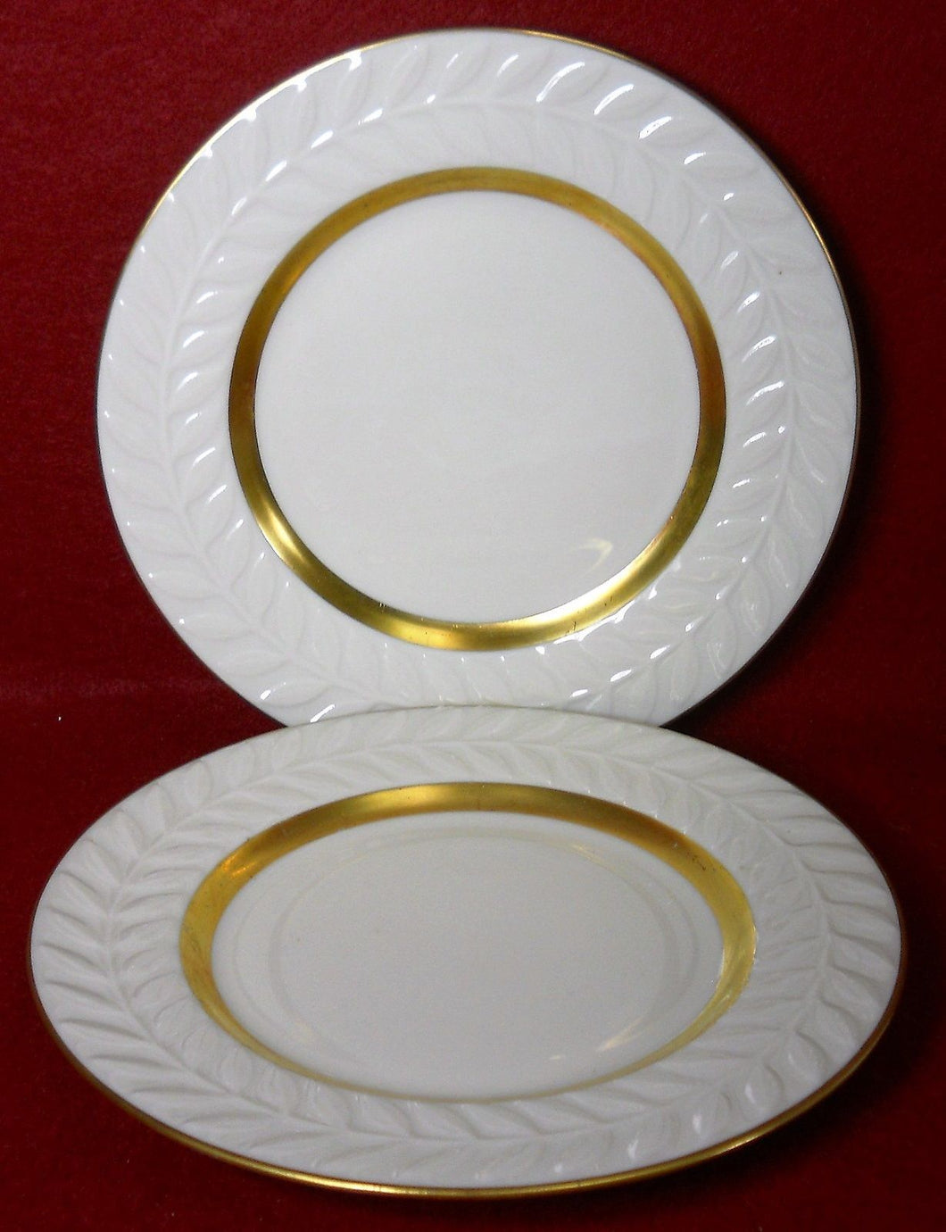 HAVILAND china EMBASSY pattern BREAD PLATE - Set of Two (2) - 6-1/2