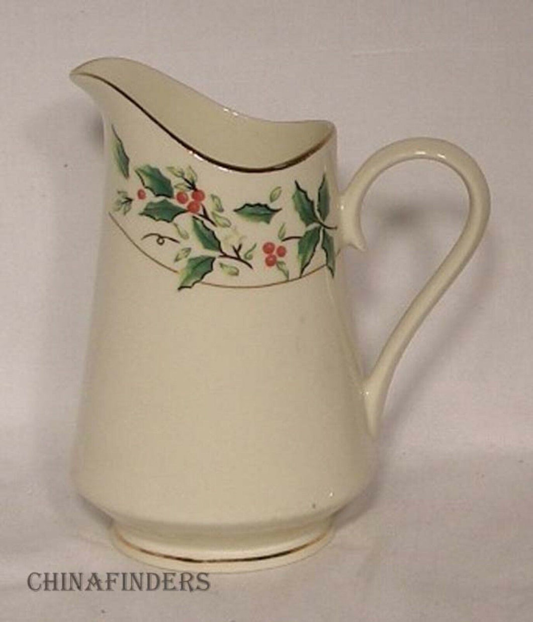 MADE in CHINA china HOLLY TRADITIONS pattern CREAMER cream pitcher jug