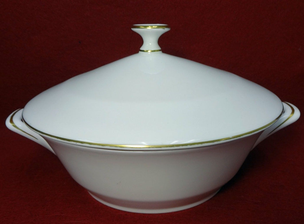 MINTON china GOLD MONARCH S729 pattern Round Covered Vegetable Serving Bowl