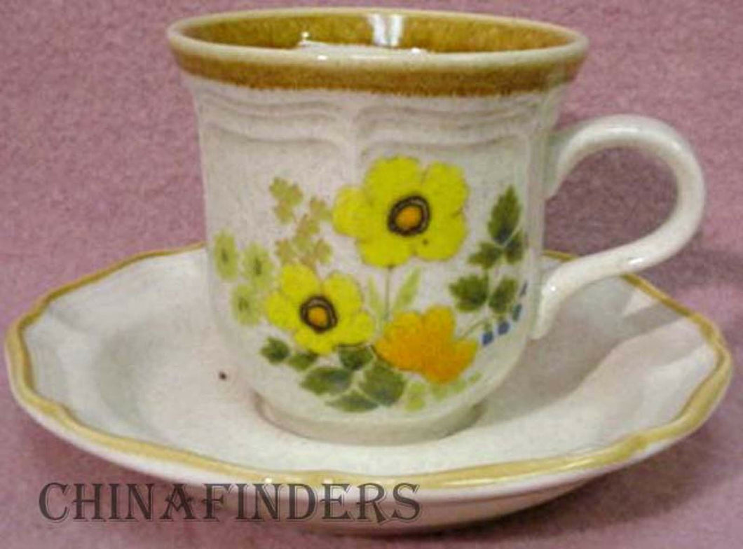 MIKASA china FRESH FLORAL EC404 pattern Cup & Saucer
