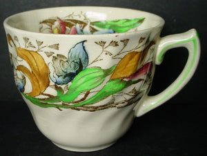 ROYAL DOULTON china TINTERN D5609 pattern DEMITASSE CUP & SAUCER Set
