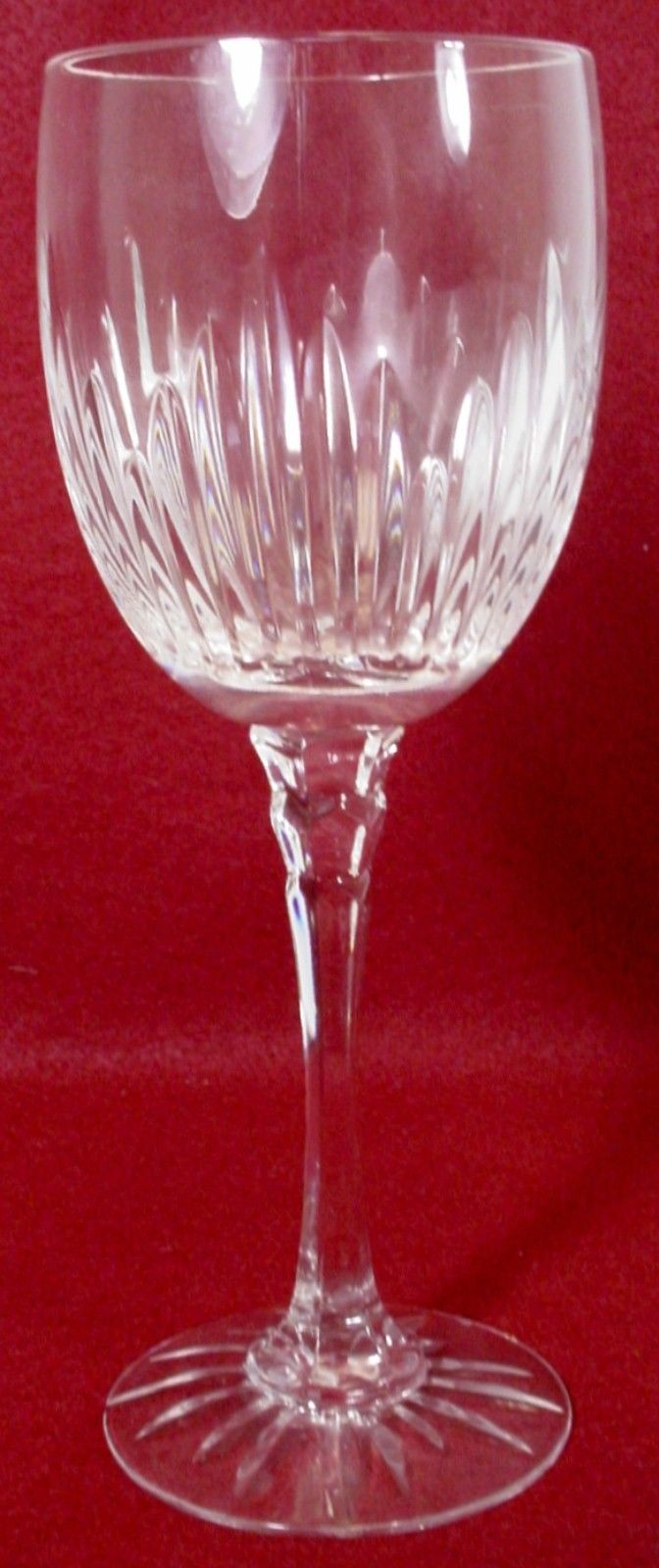 TOWLE crystal MAJESTY cut foot WATER GOBLET or GLASS 8-5/8