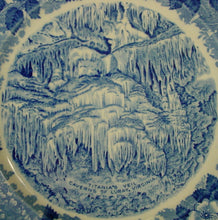 ADAMS china TITANIAS VEIL CAVERNS Luray Virginia Blue DINNER DISPLAY PLATE 10""