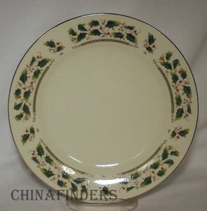 HOLLY HOLIDAY china HOME for the HOLIDAYS green mark Salad Plate - 7-5/8""