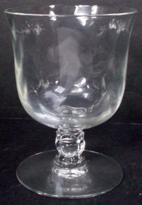 FOSTORIA crystal CELLINI 6024 Loop Optic OYSTER or FRUIT COCKTAIL 3-1/2""