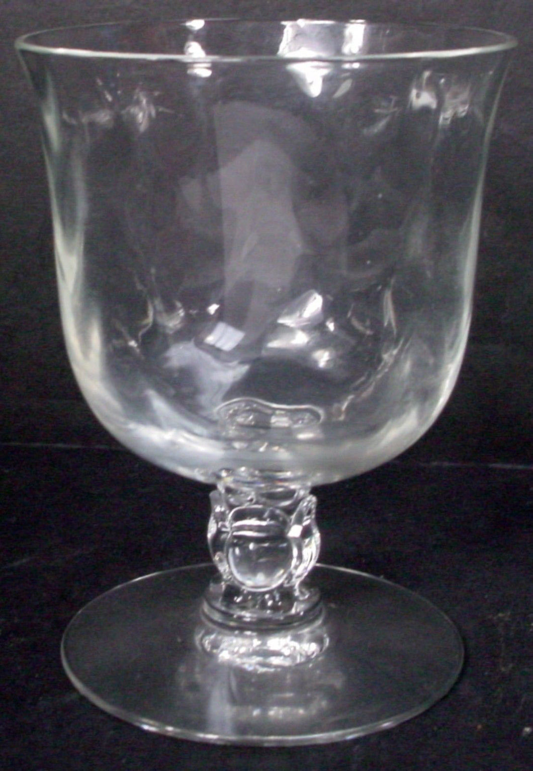 FOSTORIA crystal CELLINI 6024 Loop Optic OYSTER or FRUIT COCKTAIL 3-1/2