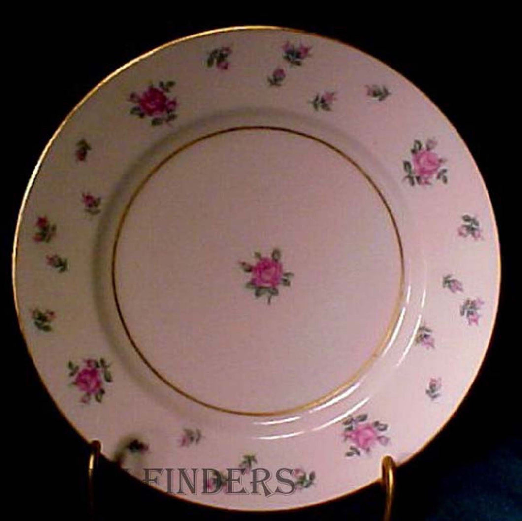ROYAL JACKSON china RAMBLER ROSE pattern Bread Plate @ 6-1/4