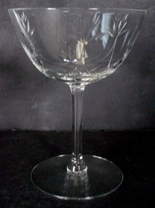 SENECA crystal SPRING SONG 355 pattern CHAMPAGNE tall SHERBET GLASS 4-3/4""