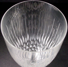 ROGASKA crystal VOGUE pattern WINE GLASS or GOBLET 8-1/2""