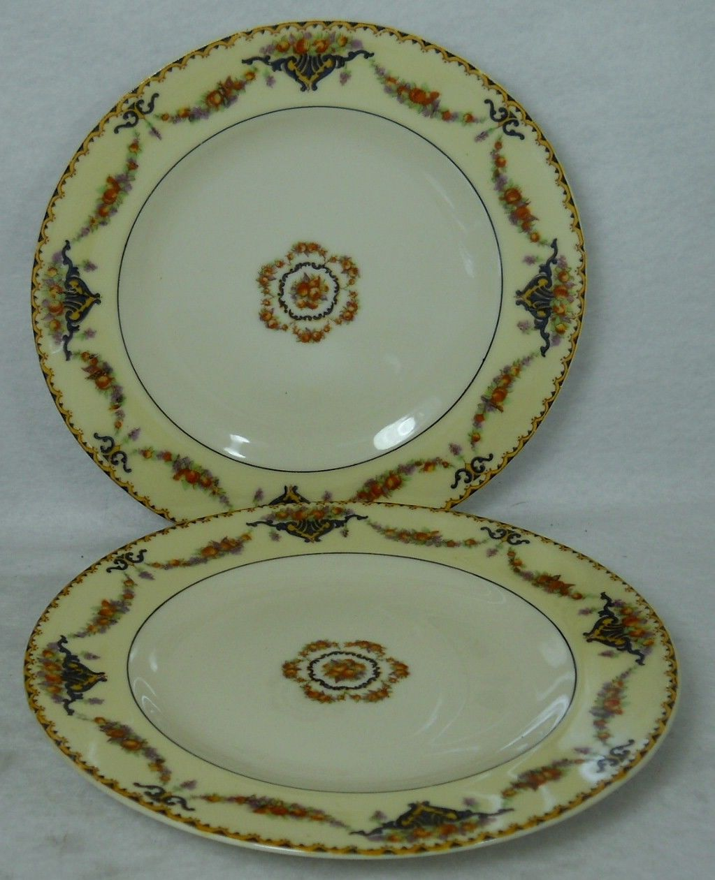 HAVILAND china France POMONA pattern Bread Plate - Set of Two (2) - 6-3/8