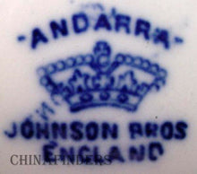 JOHNSON BROTHERS china ANDORRA flow blue FRUIT dessert sauce BERRY BOWL 5-1/8""