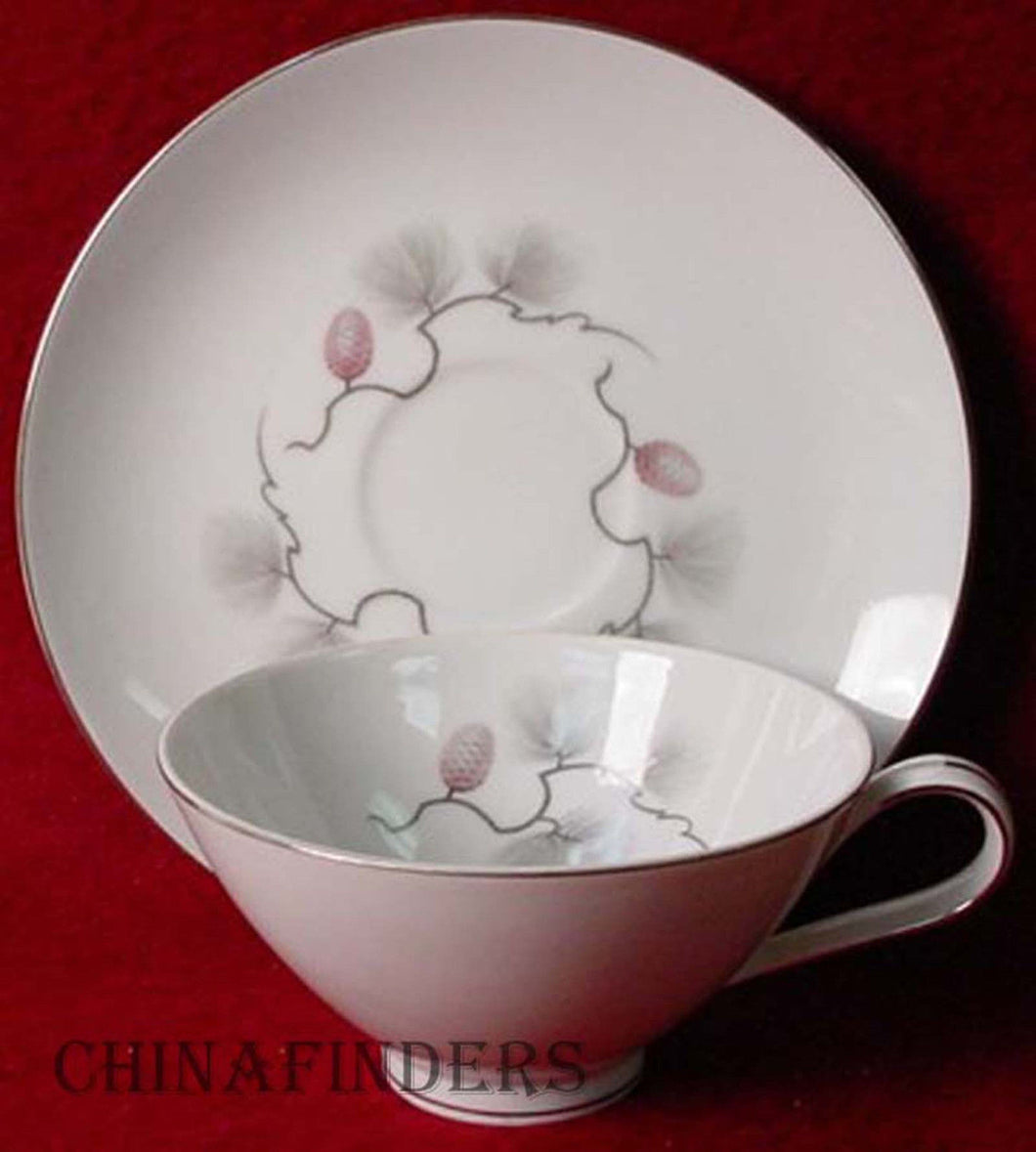 NARUMI Japan china PINECREST 5099 pttrn CUP & SAUCER