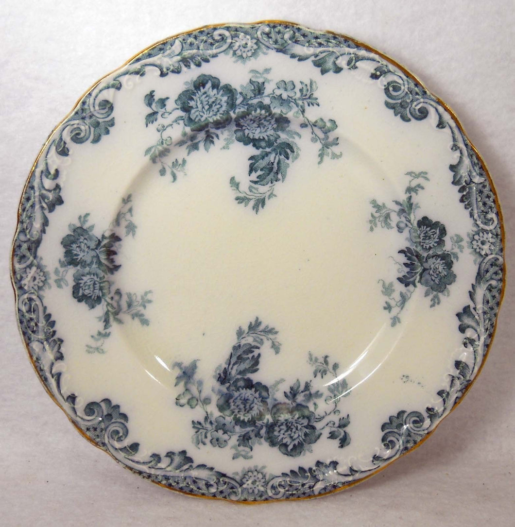 ALFRED MEAKIN china GLENMERE Blue-Green pattern Luncheon Plate - 9
