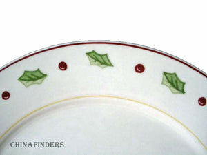 MERRY BRITE china HOLIDAY HOME pattern SALAD PLATE Set of Four (4)