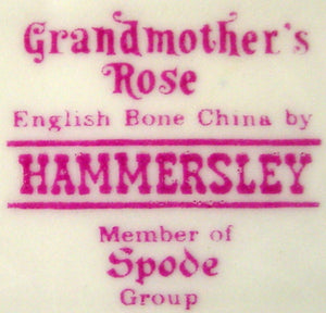 HAMMERLSEY china GRANDMOTHER'S ROSE pattern MINT TRAY 8-5/8""