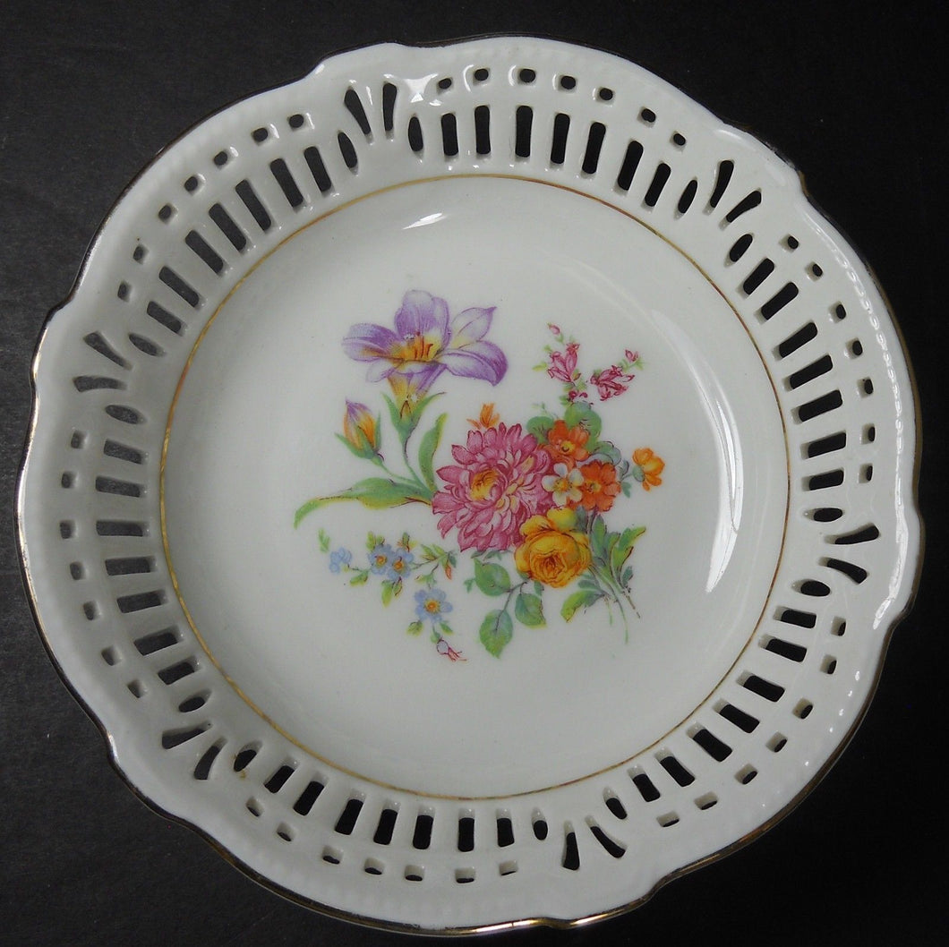 SCHWARZENHAMMER china SWH4 DRESDEN FLOWERS Fruit Dessert Berry Bowl #2 @ 5-1/2
