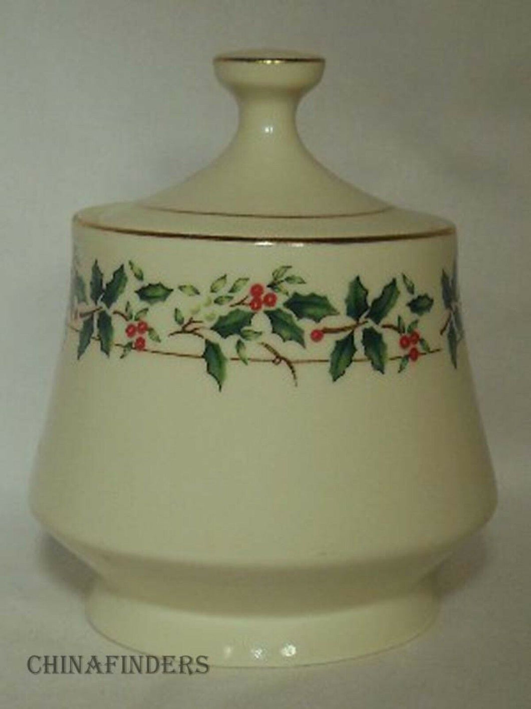MADE in CHINA china HOLIDAY TRADITIONS pattern SUGAR BOWL with LID