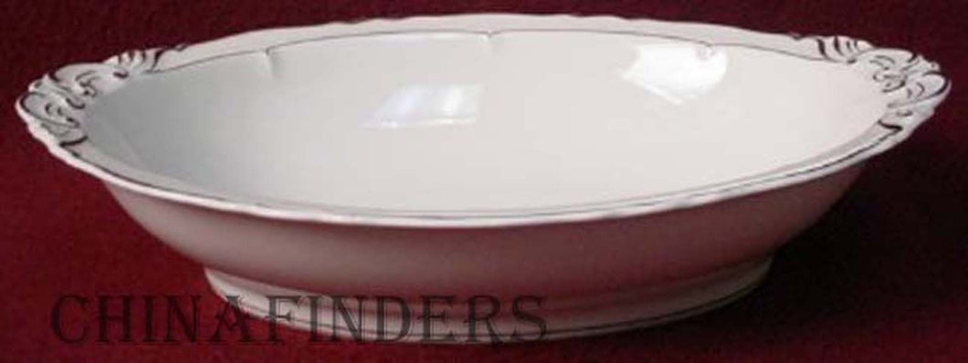HAVILAND china VERSAILLES Platinum pattern OVAL VEGETABLE Serving BOWL
