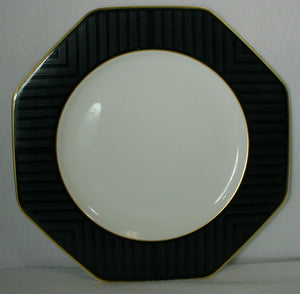 VILLEROY & BOCH Heinrich China BLACK PEARL pattern DINNER PLATE 10-1/8""