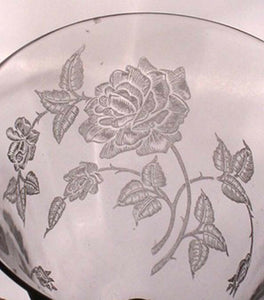 HEISEY crystal HEISEY ROSE pattern 5072 Open Sugar Bowl