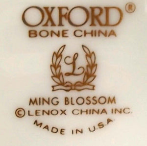 OXFORD Lenox china MING BLOSSOM pattern Bread Plate - 6-3/8""