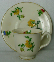 CASTLETON china MA LIN pattern Demitasse Cup & Saucer