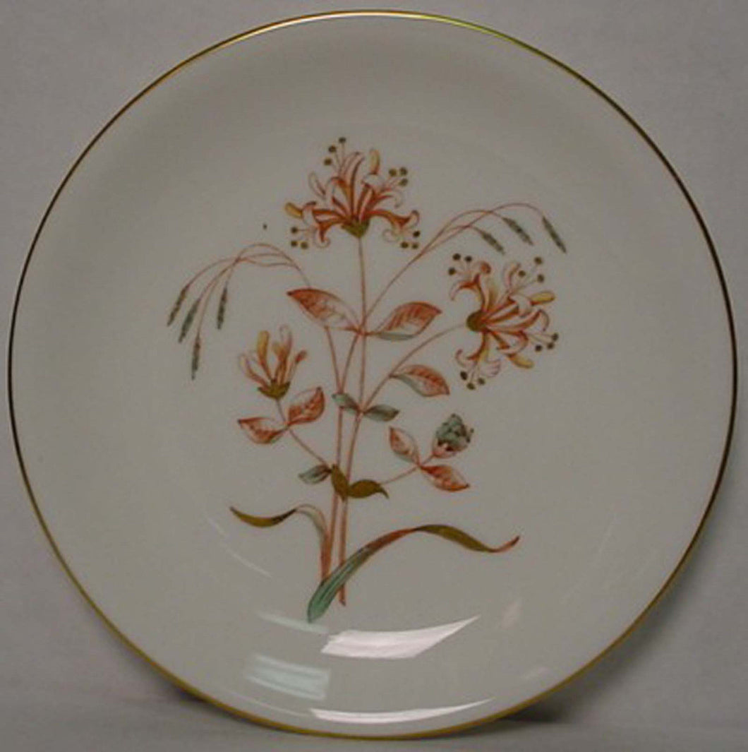 WEDGWOOD china HONEYSUCKLE RUST 4217 pattern Bread Plate @ 6