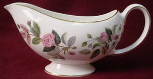 WEDGWOOD china HATHAWAY ROSE R4317 pattern Gravy Boat