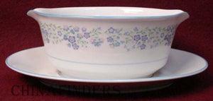 NORITAKE china TENDERLY 2689 pttrn GRAVY BOAT