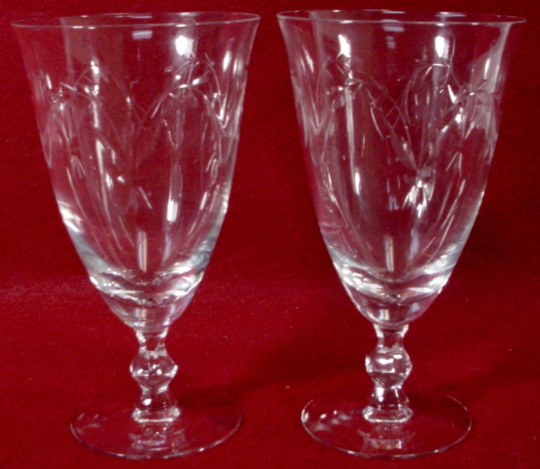 TIFFIN crystal PRELUDE 17492 pattern ICED TEA GLASS 6-1/2
