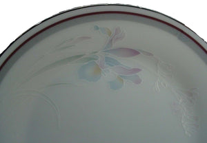 NORITAKE china MALVERNE 3501 Platinum RELISH or BUTTER TRAY or GRAVY UNDERPLATE