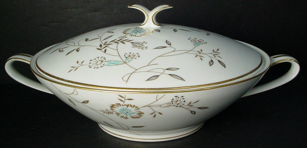 NORITAKE china DANIELLE 5776 pattern ROUND Covered VEGETABLE Serving BOWL & LID