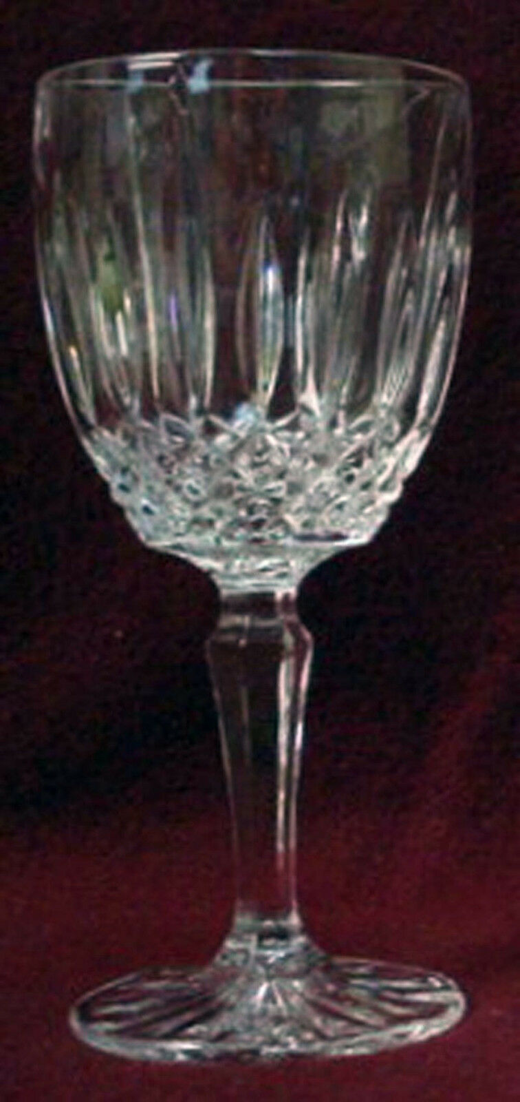 MIKASA crystal OLD DUBLIN pattern WINE Goblet or Glass 6-1/2