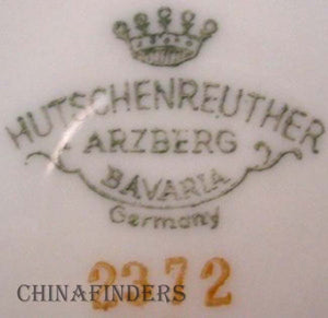 HUTSCHENREUTHER china EMPRESS GOLD 2372 pattern GRAVY BOAT