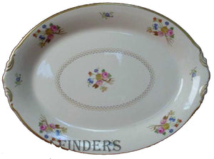 SYRACUSE china COVENTRY pattern Small Oval Serving Platter @ 12-1/4""