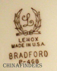 LENOX china BRADFORD pattern P468 CUP & SAUCER SET