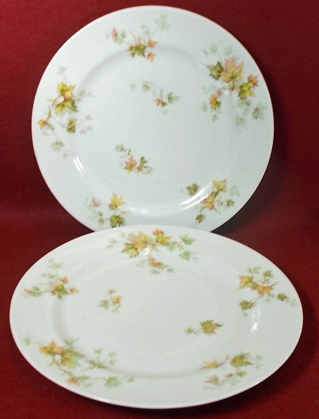 HAVILAND china AUTUMN LEAF France DINNER PLATE Set of Two (2) - 9-3/4