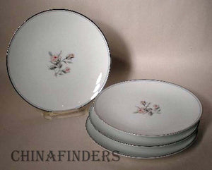 NORITAKE china MARGOT #5605 Bread Plate - Set of Four (4) - 6-3/8""