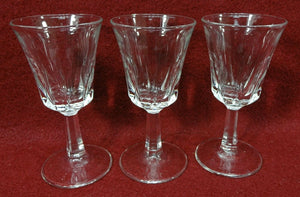 CRISTAL D'ARQUES Durand Crystal REGENCY pattern Three (3) Cordial Glasses 3-1/2""