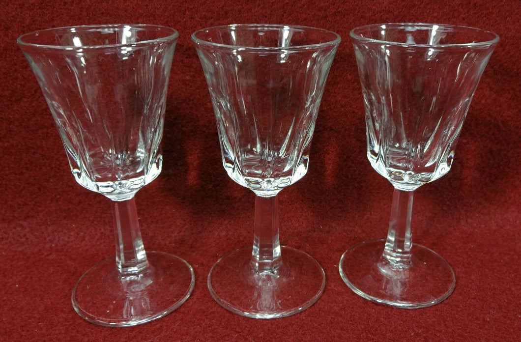 CRISTAL D'ARQUES Durand Crystal REGENCY pattern Three (3) Cordial Glasses 3-1/2