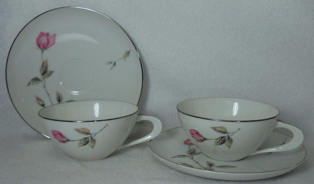 STYLE HOUSE china DAWN ROSE pattern Cup & Saucer - Set of Two (2) @ 1-7/8