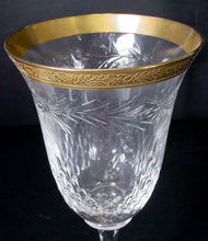 TIFFIN crystal DIJON 17724 Gold Encrusted CORDIAL or LIQUEUR GLASS 6-1/4""