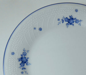 NORITAKE china #1379 pattern BLUE FLOWERS & TRIM Oval Serving Platter @ 12""