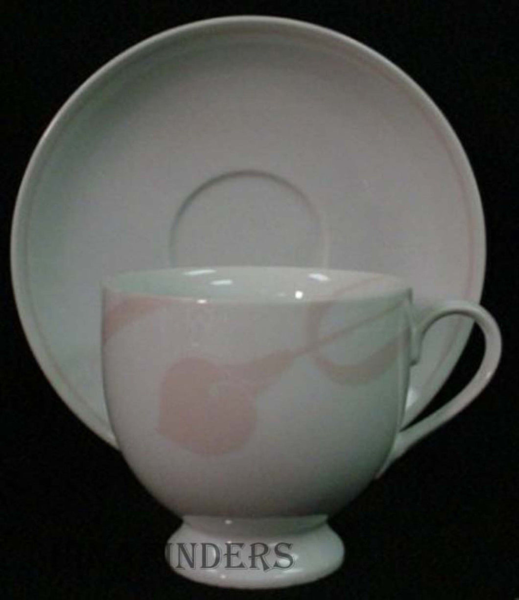 MIKASA china CLASSIC FLAIR-PEACH LBD01 pattern Cup and Saucer - Set of Two (2)